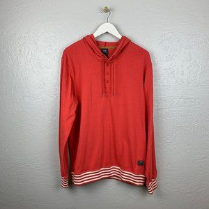 Nike Repeater Henley Sweatshirt Hoodie Red White
